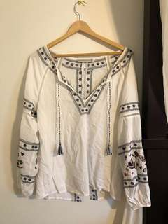 Beautiful embroidered boho blouse