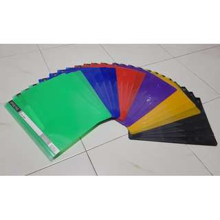 Brand New A4 Plastic Project File/ Management File/ Office File in Multiple Colours