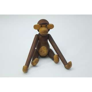 EARLY VINTAGE KAY BOJESEN DARK TEAK WOOD DANISH MODERN MONKEY EAMES ERA