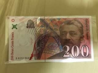 法郎 200元