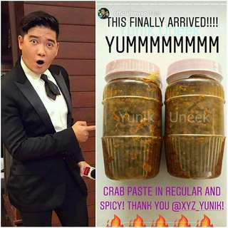 -Yunik- The ORIGINAL Pure Crab Paste / Taba Ng Talangka / Aligue