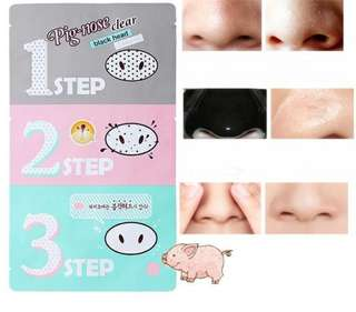 PIG-NOSE CLEAR BLACK HEAD 3 STEP KIT