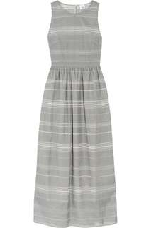 Striped grey maxi dress