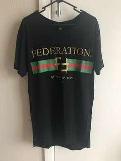 Brand new FEDERATION black we ain't no Gucci