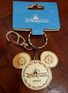 HK Disneyland Mickey & Minnie Keychain.