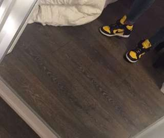 new yellow high cut nikes