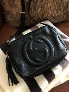 Gucci Black Soho Disco crossbody bag