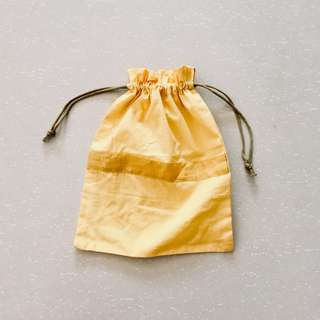 Yellow Drawstring Pouch