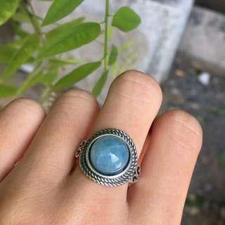 纯天然霸气复古款 [色]海蓝宝戒指💍