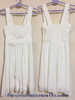 * Pre-loved Occasion White Chiffon Dress