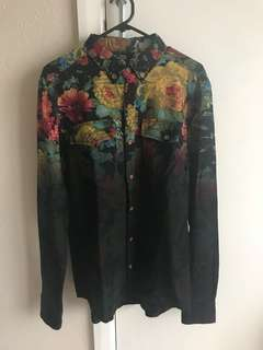 THING THING FLORAL T SHIRT thick
