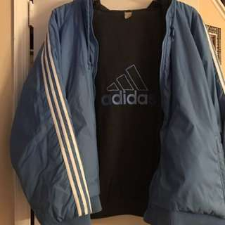 Men's Size 2xl lined blue adidas jacket