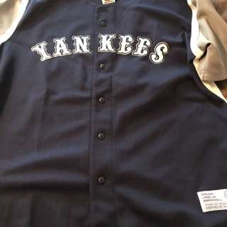 NY Yankees polyester jersey size large