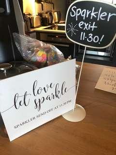Boho Wedding Sparkler Send Off Signs x2