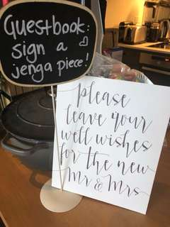 Guestbook & Well Wishes Wedding Signs