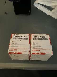 2 pieces Toyota Genuine oil filter