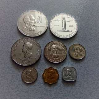 1978 Philippine Silver Commemorative and Coinage Set /Proof like