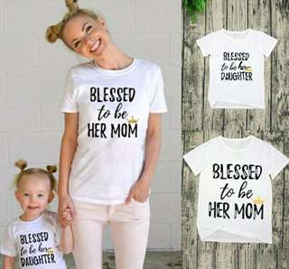 Mother and Daughter Short-Sleeve T-shirts Tops