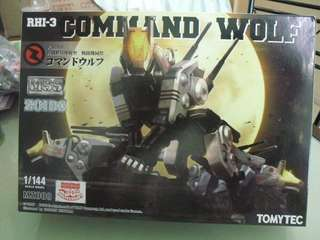 TOMY 1/144 TOMY Zoids 索斯機械獸 RHI-3 Command Wolf MZ008 Robot 模型(連地台,無需上色)1/144(全新)模型