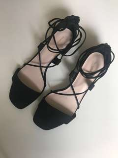 Charles and Keith Lace Up Sandals