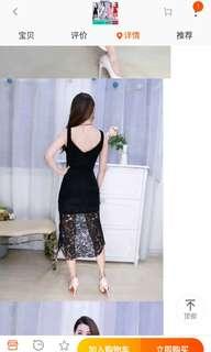 Clubbing lace lace dress