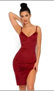 Red Satin Dress (Oh Polly)