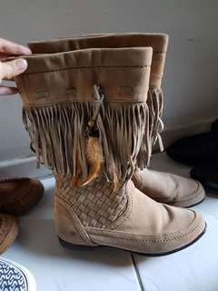 Tall brown boots size 37