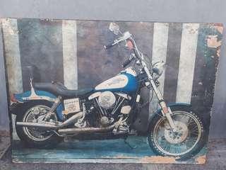 Poster Harley Davidson Kelasik