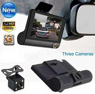 THREE Camera Dash Cam