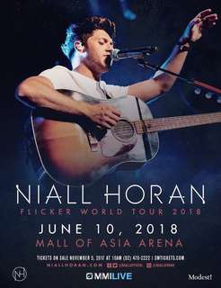 LOOKING FOR 2 VVIP STANDING NIALL HORAN FLICKER TOUR TICKETS