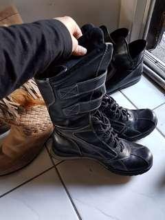 Nine West black leather boots Size 37