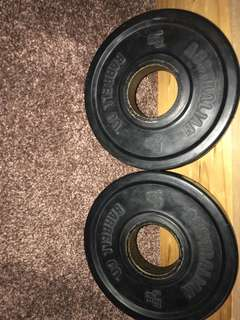1.25 kg barbell weights X2