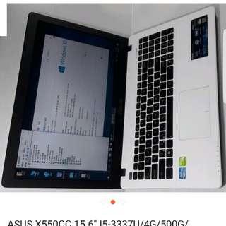 Laptop asus,,,core i5 gen 3,,layar 15 inchi,,4gb ram