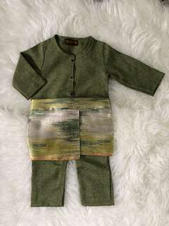 Baju Melayu with attached samping for baby boys