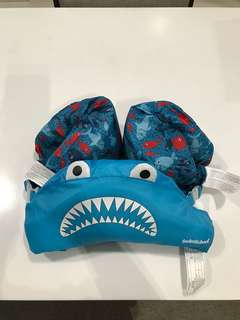 Blue Shark Chest and Arm float for toddler