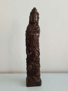Camphor Wooden Carrying Guan Yin Height 40cm perfect condition