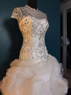 White Bridal Gown with Swarovski Crystals