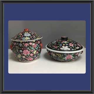 Vintage Kamcheng and Tureen In Black Collection