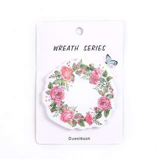 [IN] [SN] Flower Wreath Sticky Notes