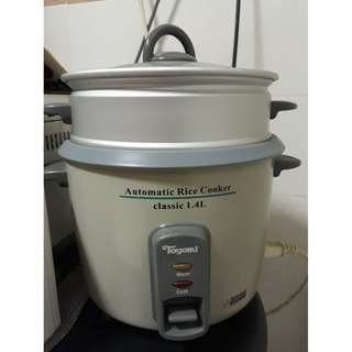 Toyomi 1.4L Automatic Rice Cooker with Steam Pan
