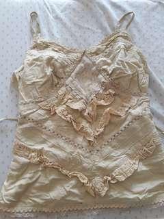 Spag strap summer blouse