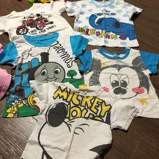 Preloved used condition 2T clothes suitable for 18mths to 3yr old mickey elephant animals thomas and friends motorcycle boys clothes