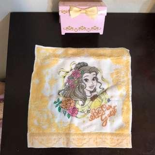 🚚 全新日本Disney美女與野獸公主小方巾