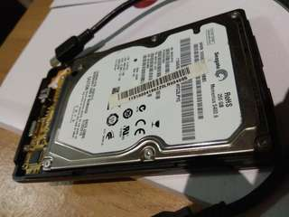 Used 250gb hdd with enclosure