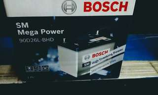 Car Battery-S4 90D26L Bosch Battery SM Mega Power                         要买就买有品质保证的货品👍                                                           Get quality goods👌                                                                          Cash and Carry