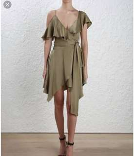 Zimmermann Asymmetric Sueded Dress