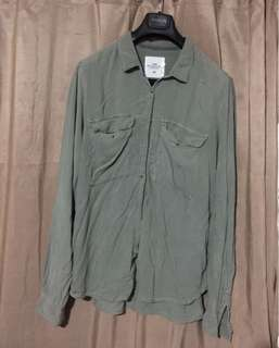 ‼️ SALE : H&M OVERSIZED PASTEL GREEN POLO