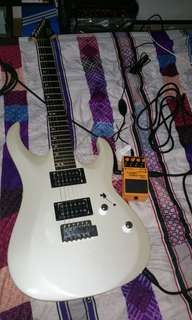 Electric Guitar with BOSS DS-2 Distortion