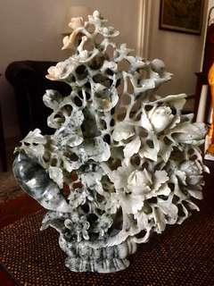 Grey Nephrite Jade Bouquet
