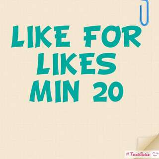 MIN 20!! LIKE FOR LIEKS!! COMMENT DONE